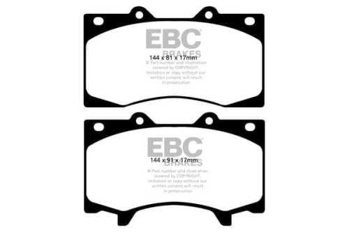 EBC DP62125  Greenstuff for Nissan Patrol Y62 (FRONT)