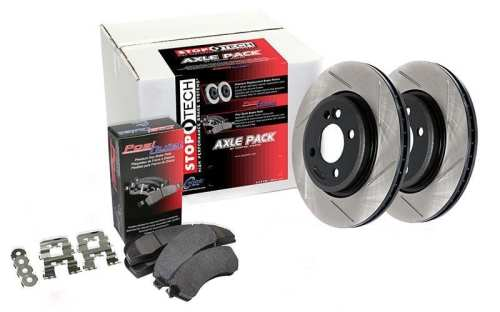 Stoptech Street Axle Pack Slotted Front - Subaru STI 2008+