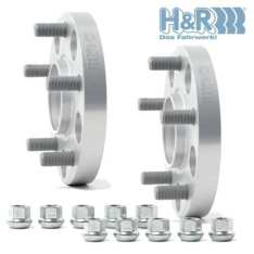 H&R wheel spacers for Subaru STI.