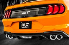 "MagnaFlow Cat-Back Exhaust Kit 3"" Competition Series Stainless Steel With 4"" Polished Quad Tips GT 2018-2019"