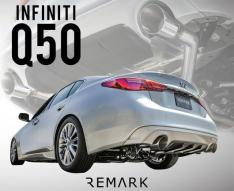 Remark RO-TSQ5-S Axleback for Infiniti Q50 2014+ (ALL MODELS) w/Stainless Steel Single Wall Tip