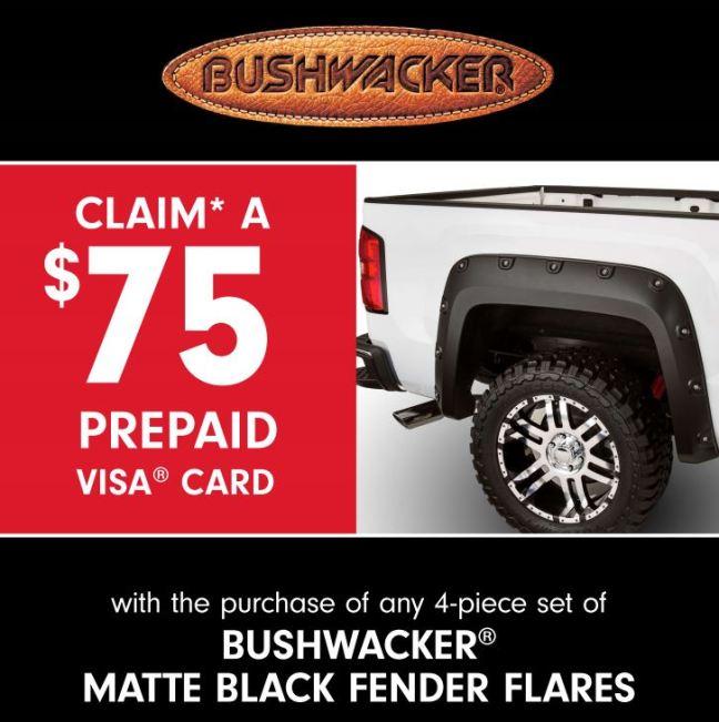 Bushwacker 75 Prepaid Card Matte Black Fender Flares