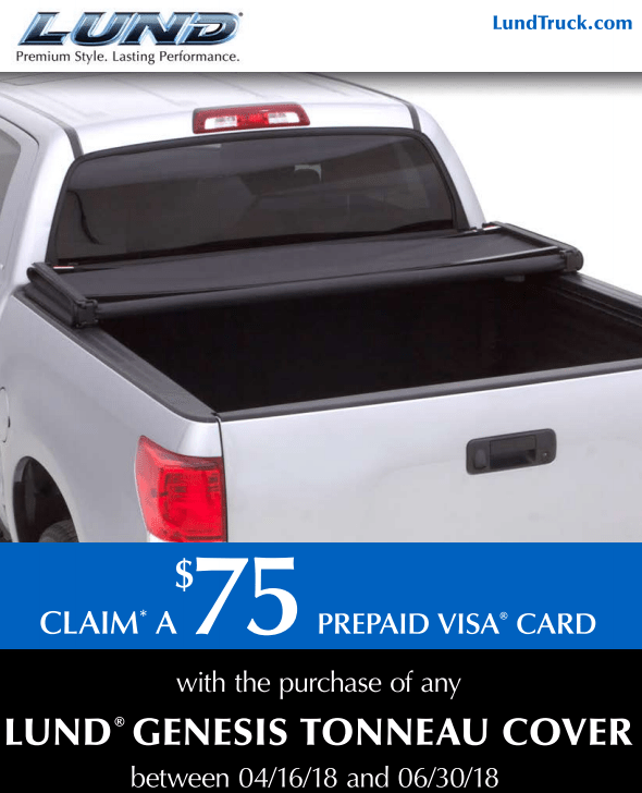 LUND: $75 Prepaid Card with Genesis Tonneau Cover Purchase