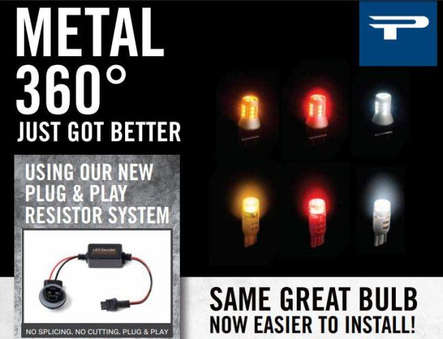 Putco: Metal 360° LED Bulbs Now with New Plug-and-Play Resistor System
