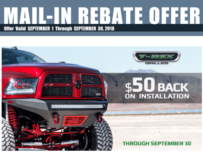 T-Rex Grilles: Get $50 Back on Installation