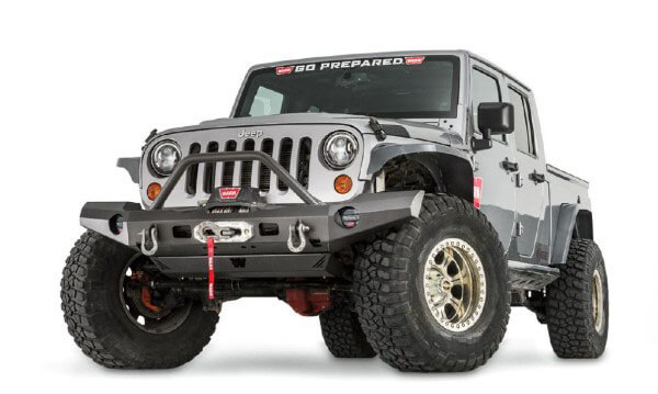 WARN Elite Series Front Bumper for Jeep Wrangler JK