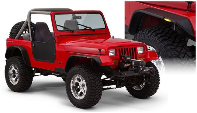 Bushwacker Flat Style Fender Flares for Jeep Wrangler JL 10923-07