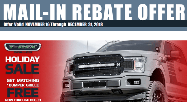 T-Rex Grilles: Get Free Matching Bumper Grille with X-Metal or Torch Main Grille Purchase