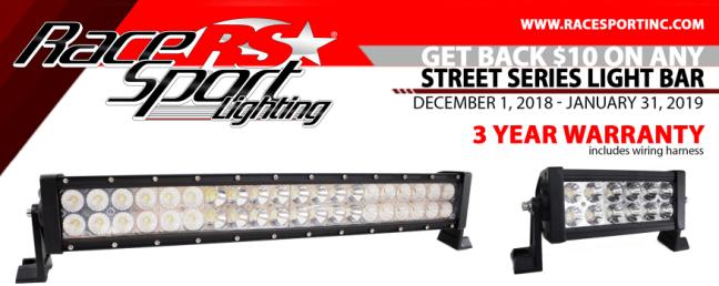Race Sport Lighting: Get $10 Back on Street Series Light Bars