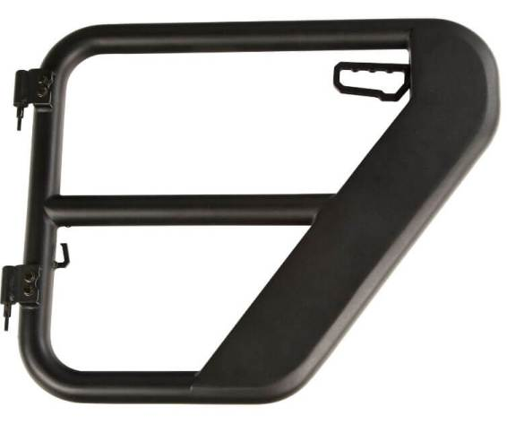 Rugged Ridge (11509.14): Textured-Black Rear Tube Doors for '18-'19 Jeep Wrangler JLU