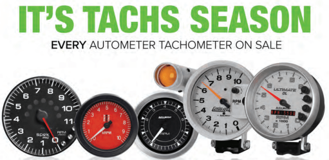 """AutoMeter: Get up to $150 Back on Tachometers During """"Tachs Season"""" Rebate Period"""