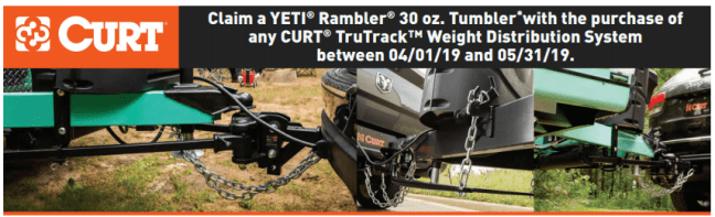 CURT: Get a Free YETI Rambler Tumbler with TruTrack System Purchase