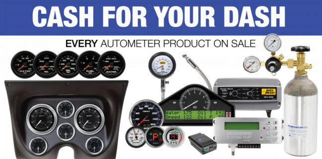 """AutoMeter: Get up to $250 Back During """"Cash for Your Dash"""" Promotion"""