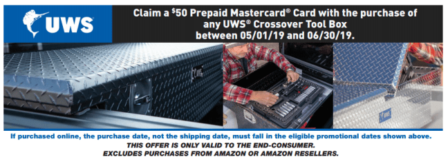 UWS: Get $50 Back on Crossover Toolboxes