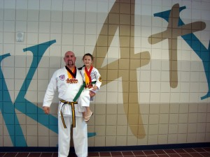 The Sibley's pose with their medals at the ATA Regional Tournament - Katy, Texas