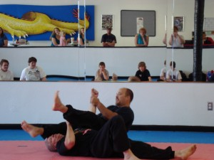 Mr. Church Demonstrates a variety of Arm Bars on Mr. Smith