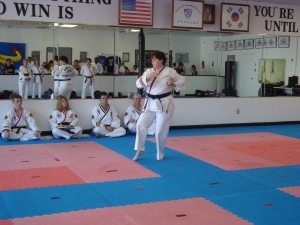 Mrs Adkins 2nd Degree Black Belt - Forms Competition