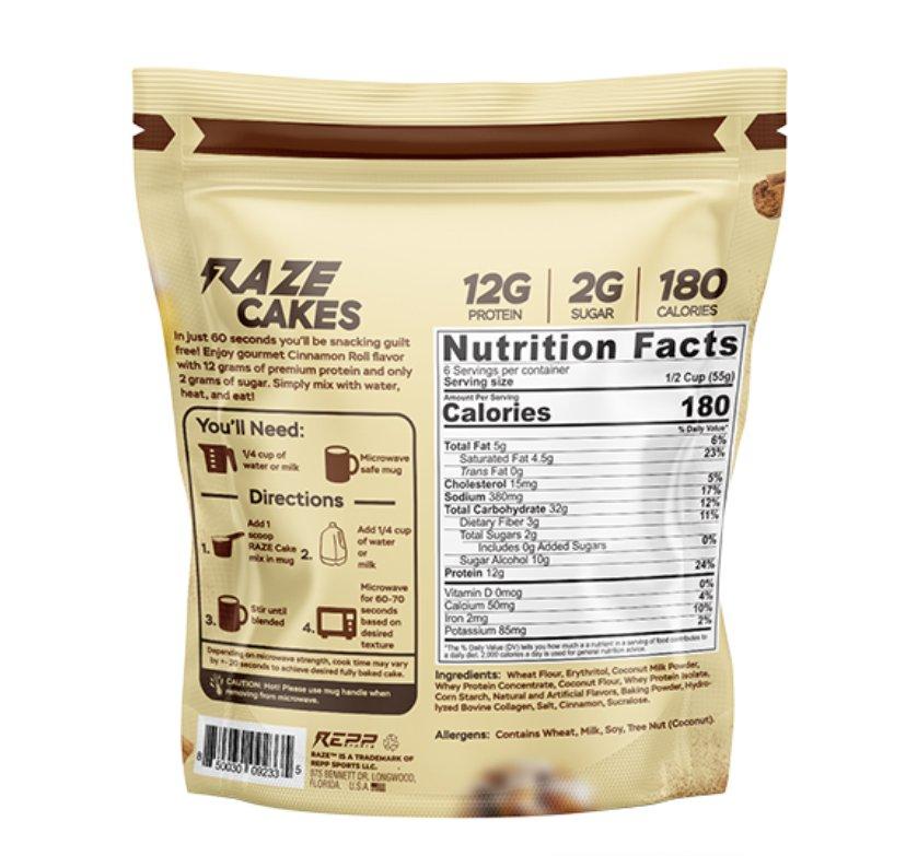 RAZE Protein Cakes