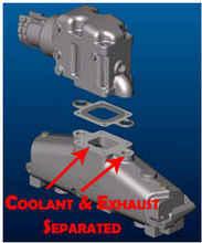 mercruiser marine exhaust manifolds