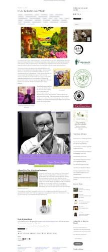 Perfumart na mídia – Blog internacional