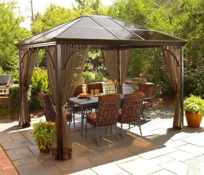 modern patio gazebo furniture ideas