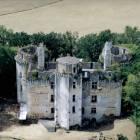 Château de l'herm : vue aérienne