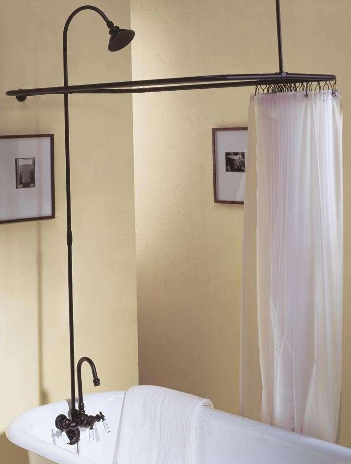 solid brass leg tub shower enclosure set 45 x 25 with faucet riser shower head oil rubbed bronze