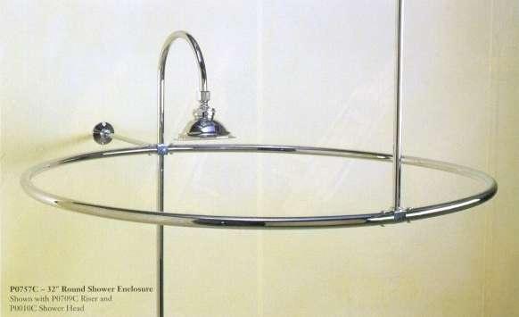 solid brass round shower curtain enclosure rod 32