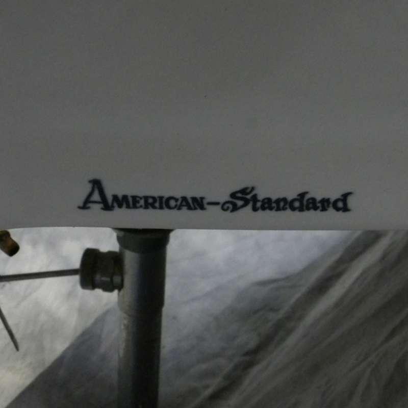 antique american standard corner sink