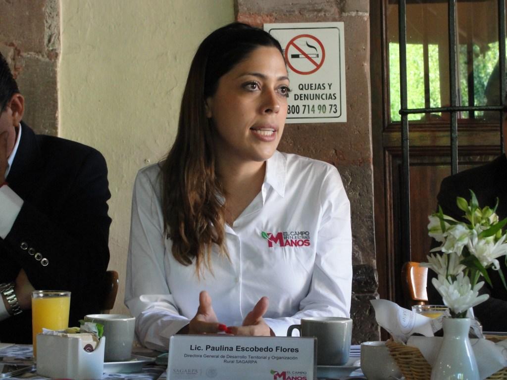 Paulina Escobedo,Directora general de Desarrollo Territorial y Organización Rural de la Secretaría de Agricultura, Ganadería, Desarrollo Rural y Pesca (SAGARPA)