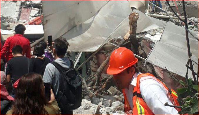Van 138 personas muertas por #sismo de 7.1 grados en México