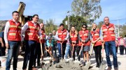 Mario Calzada encabeza aranque de obra para rehabilitar cancha deportiva en La Cañada