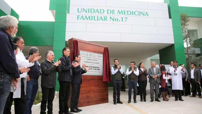 Inauguran nueva clínica del IMSS en Corregidora