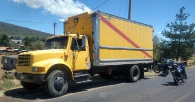 Asegura SSP camión con reporte de robo