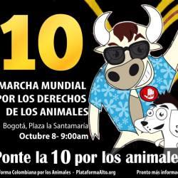 X Marcha Mundial por los Derechos de los Animales y la Defensa del Planeta