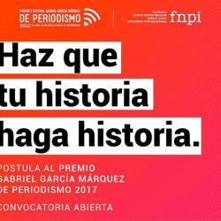 Postula al Premio Gabo 2017: Convocatoria abierta hasta el 17 de mayo