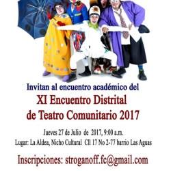 Xl Encuentro Distrital de Teatro Comunitario