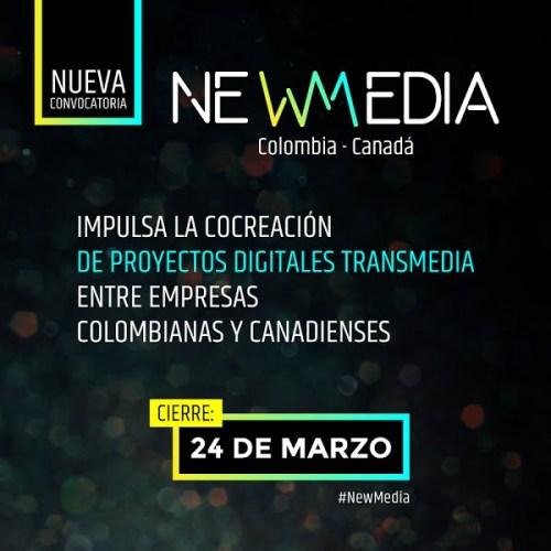 Últimos días para postular Convocatoria Newmedia Colombia - Canadá