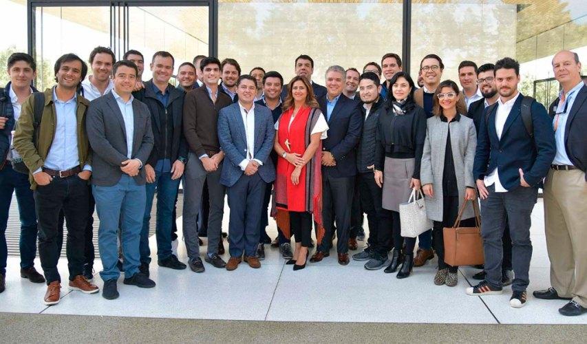 Los 14 emprendedores que fueron con Duque a Silicon Valley