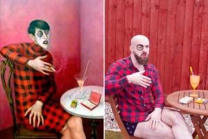 Museo pide a las personas que recreen pinturas con cosas que pueden encontrar en casa