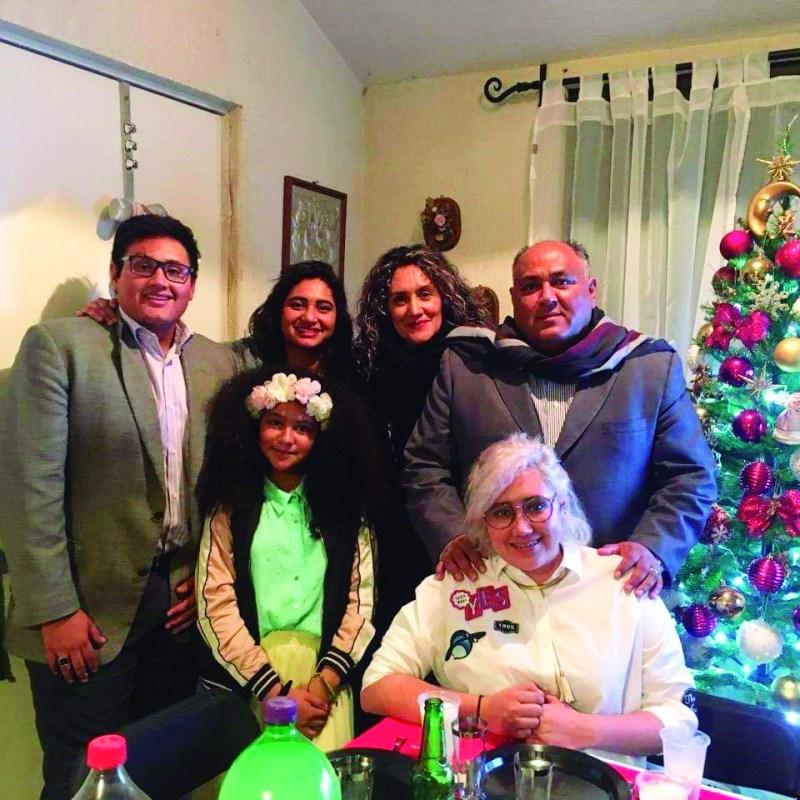 La familia González Cortés.
