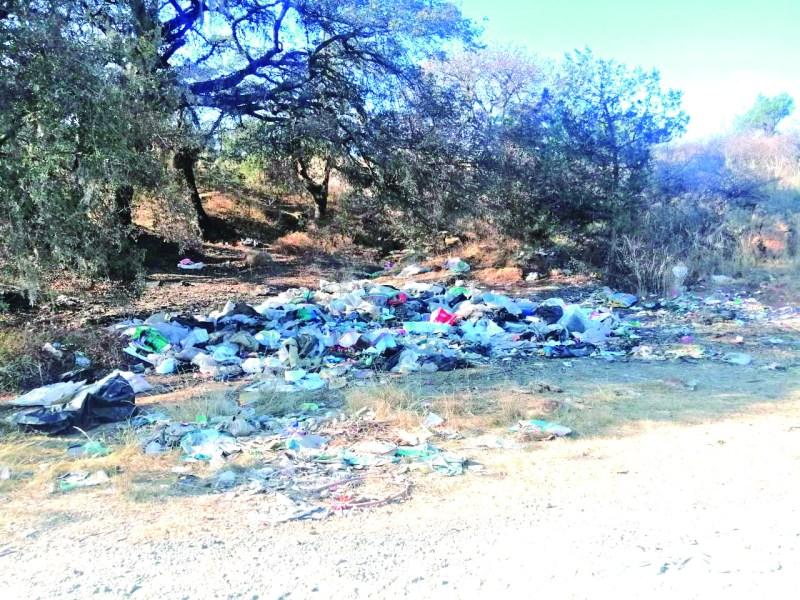 Los montones de basura en el camino que va de Ventoquipa a Los Romeros, por donde era la vía del tren siguen. Lejos de disminuir cada semana aumenta, por lo que esperan que las autoridades actúen para sanear eses parajes.