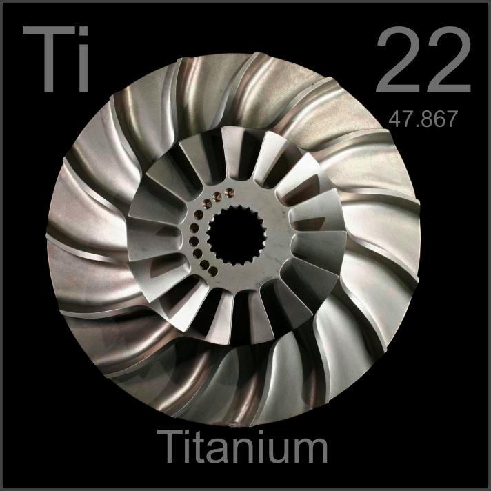 Titanium Blisk Bladed Impeller Disk