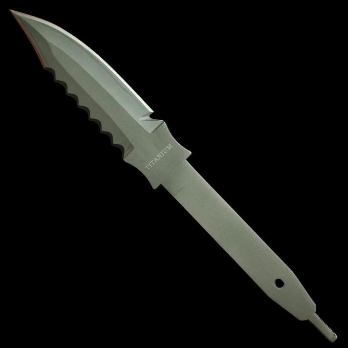 Titanium Solid titanium dive knife