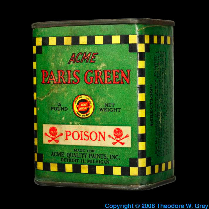 Arsenic Paris Green pigment/poison