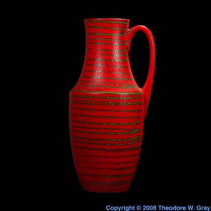 Selenium Selenium-red glaze on vase