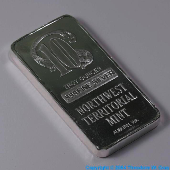 Silver 10 ounce bar