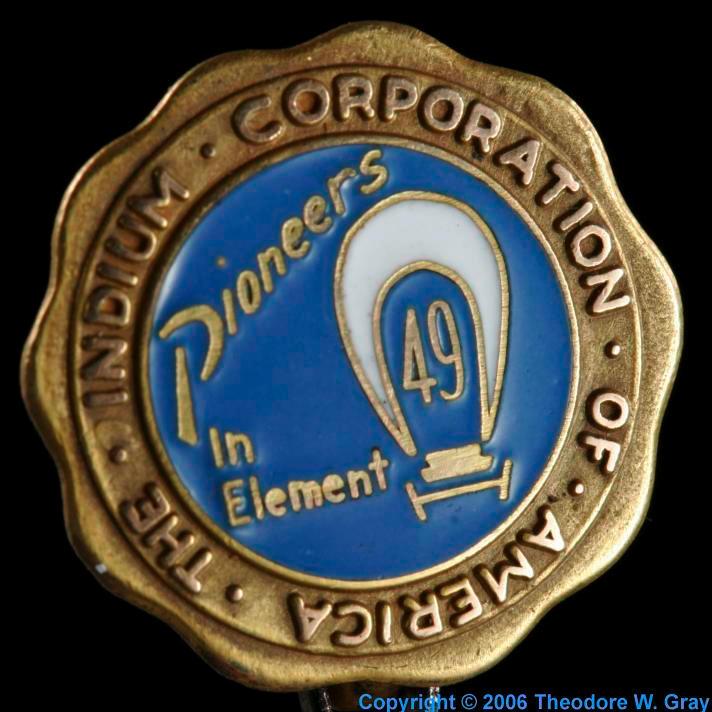 Indium Commemorative pin