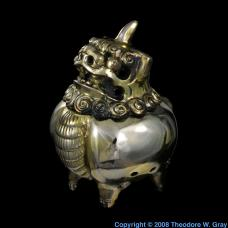 Antimony Foo Dog incense burner