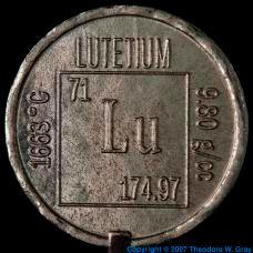 Lutetium Element coin